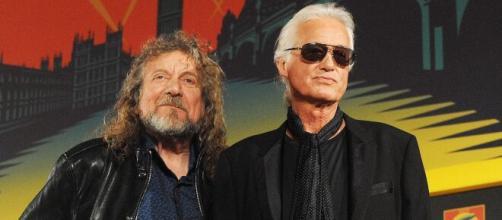 Robert Plant e Jimmy Page dei Led Zeppelin, autori del celebre brano Stairway to Heaven