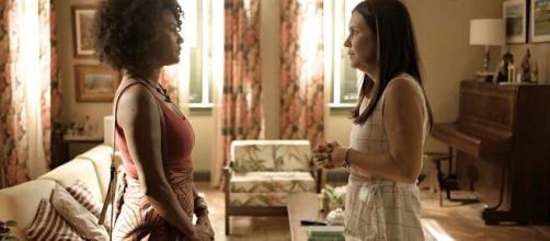 Conflito de Thelma e Camila reinventa drama vivido em 'Barriga de Aluguel'. (Reprodução/TV Globo)