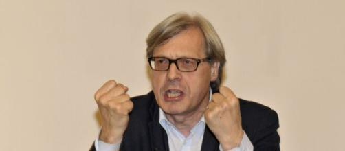 Il critico d'arte e deputato Vittorio Sgarbi