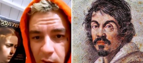 Salmo a sinistra, Caravaggio a destra.