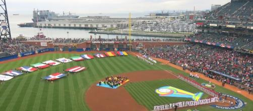The World Baseball Classic championship brings people together from many different cultures. [Image Source: LiAnna Davis/Wikimedia Commons]