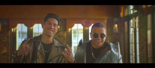 "Chino and Nacho release their latest single titled ""Raro."" [Image Source: Nacho/YouTube]"