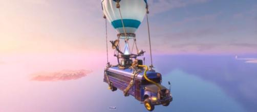 'Fortnite's' Battle Bus driver must have fallen asleep or something. [Image Source: BCC Trolling/YouTube]
