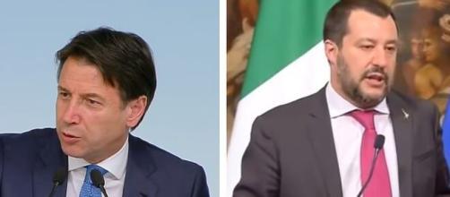 Giuseppe Conte e Matteo Salvini.