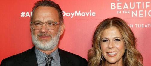 Tom Hanks e sua mulher Rita Wilson. (Arquivo Blasting News)