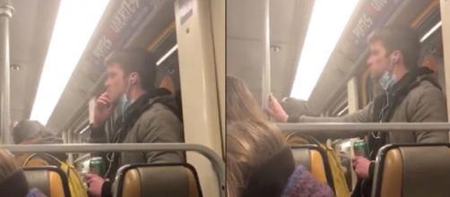 Un vídeo muestra a un hombre esparciendo su saliva en el Metro de Bélgica sin ninguna razón aparente
