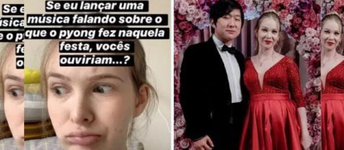 Esposa de Pyong lança música sobre polêmica envolvendo o marido. (Reprodução/Instagram/@sammyofc).