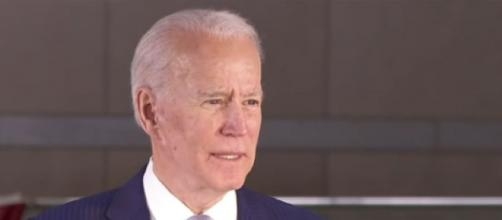 Joe Biden extends lead over Bernie Sanders with win in Michigan. [Image source/ USA TODAY YouTube video]