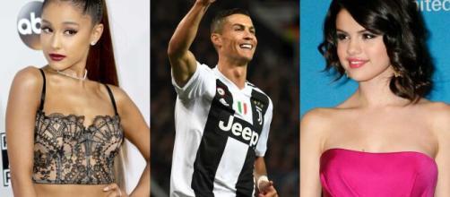Selena, Ariana e Cristiano Ronaldo: três dos perfis mais seguidos do Instagram. (Arquivo Blasting News)