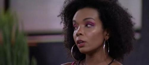 Thelma Assis defende a permanência de Babu Santana no 'BBB20' depois da eliminação de Victor Hugo. (Reprodução/TV Globo)