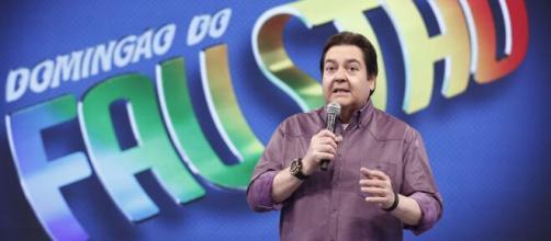 """""""Domingão do Fautão"""" sem plateia por causa do coronavírus. (Reprodução: TV Globo)"""