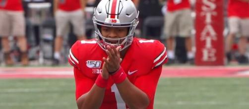 Justin Fields closer to winning 2020 Heisman Trophy. [Image Source: ESPN Collage Football/YouTube]