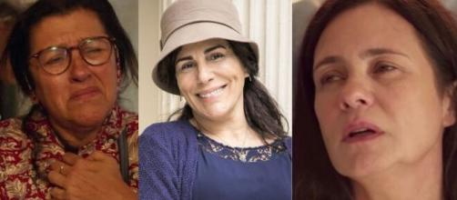 Nomes como Regina Casé, Glória Pires e Adriana Esteves poderão ser afetados por decisão da Globo sobre a coronavírus. (Montagem/ TV Globo).