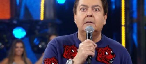 Por precaução contra o coronavírus, Domingão do Faustão é apresentado sem plateia. (Reprodução/TV Globo)