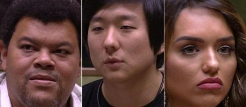 Babu, Pyong e Rafa estão no paredão. (Reprodução/TV Globo)