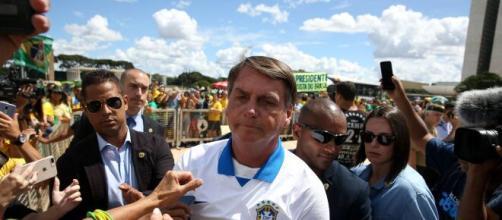 Bolsonaro participa de manifestação em Brasília. (Arquivo Blasting News)