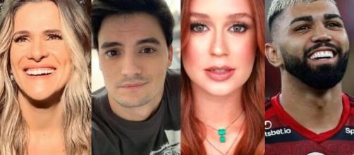 Ingrid, Felipe Neto, Marina Ruy Barbosa e Gabigol vieram a público declarar torcida por Babu. (Foto: Montagem/Instagram).