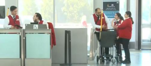 Coronavirus flight cancellations hit airport workers, businesses. [Image source/KPIX CBS SF Bay Area YouTube video]