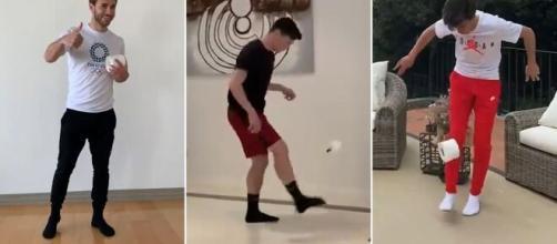 Muchos futbolistas están mostrando en redes lo que hacen para pasar el tiempo durante la cuarentena por coronavirus
