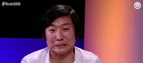 Pyong participa da Rede BBB após ser eliminado. (Reprodução/TV Globo)