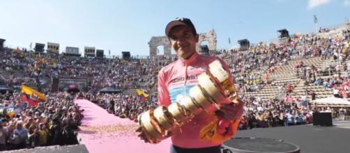 Richard Carapaz, vincitore dello scorso Giro d'Italia
