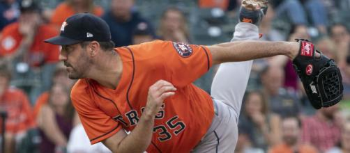 The postponement of the MLB season gives Justin Verlander more time to rest. [Image Credit: Keith Allison/Wikimedia Commons]
