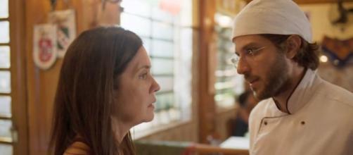 Thelma inventará mais uma mentira para Danilo em cena de 'Amor de Mãe'. (Reprodução/TV Globo)