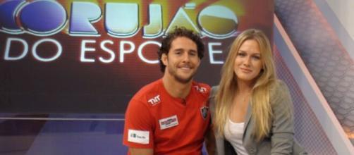 Fiorella Mattheis e o ex-judoca Flávio Canto ficaram pouco mais de um ano casados. (Reprodução/TV Globo)