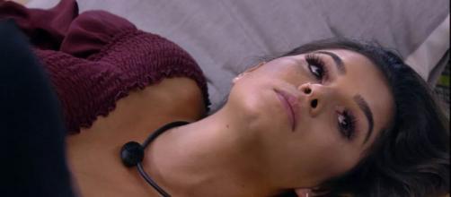Gizelly sobre Flayslane: 'Eu não suporto olhar para a cara dela'. (Reprodução/TV Globo)