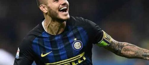 Mauro Icardi, nella foto con la maglia dell'Inter.