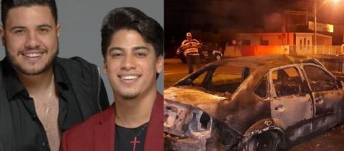 Sertanejo Henrique foi resgatado de carro em chamas. (Arquivo Blasting News)