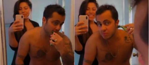Casal Andressa Ferreira e Thammy Miranda é bastante ativo nas redes sociais. (Arquivo Blasting News)