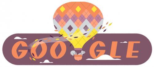 Com um doodle em sua página incial, google festeja o Equinócio de Outono. (Reprodução/Google)