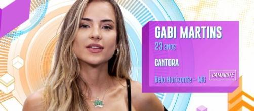 """Gabi, do """"Big Brother Brasil"""", foi criticada após comentário no programa. (Reprodução/TV Globo)"""
