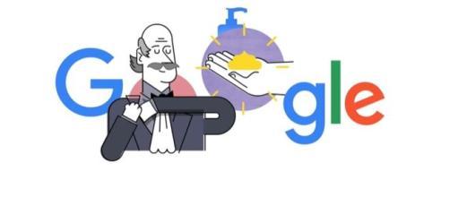 Google dedica il doodle al medico Ignaz Semmelweis.