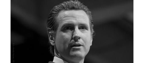 Governor Newsom takes an agressive approach and locks down California to combat coronavirus. [Image Source: Randy Bayne/Flickr]