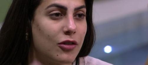 Mari Gonzalez não gostou do posicionamento de Thelma após a Prova do Líder. (Reprodução/TV Globo).