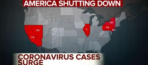 Cases of the coronavirus surge in the United States (U.S). [Image Source: ABC News/YouTube]