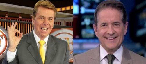 Globo e Rede TV afastam todos os funcionários com mais de 60 anos para prevenir coronavírus (Foto: RedeTV/TV Globo/Montagem Notícias da Redação)