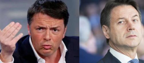 Matteo Renzi critica il discorso di Giuseppe Conte.