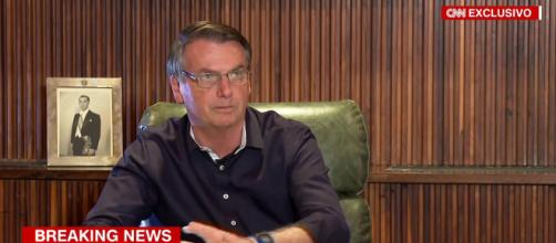 Bolsonaro é entrevistado novamente pela CNN Brasil. (Reprodução/CNN)