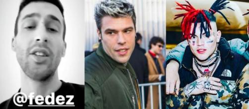 Da sinistra: Jamil, Fedez e Gallagher.