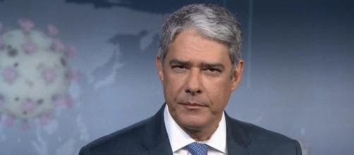 Bonner afirmou que com união, o vírus poderá ser vencido. (Reprodução/TV Globo)