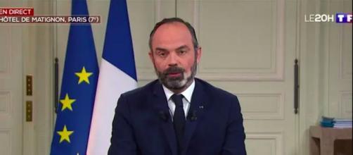 Coronavirus : Edouard Philippe a annoncé un renforcement des mesures. Credit : TF1 Capture