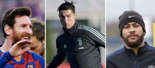 Football : Les 5 joueurs les mieux payés au monde. Credit : Instagram/leomessi/cristiano/neymarjr