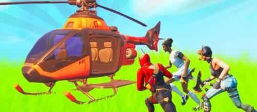 """Fortnite"" players can turn an autopilot on a helicopter. [Image Credit: In-game screenshot]"