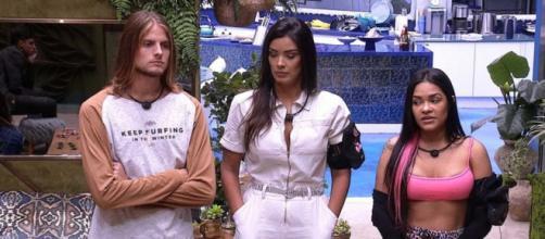 """Jogo da Discórdia: participantes informam quem será o próximo eliminado """"Big Brother Brasil"""". (Reprodução/TV Globo)"""