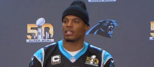 Newton was the first overall pick by the Panthers in 2011 (Image Credit: FOX Sports/YouTube)