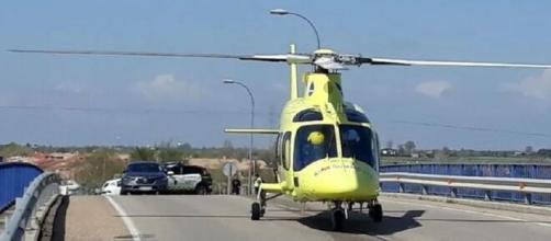 El Guardia Civil atropellado fue trasladado en helicóptero hasta el hospital