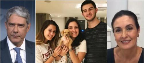 Filhos de Fátima Bernardes e Bonner estão na casa do pai. (Arquivo Blasting News)